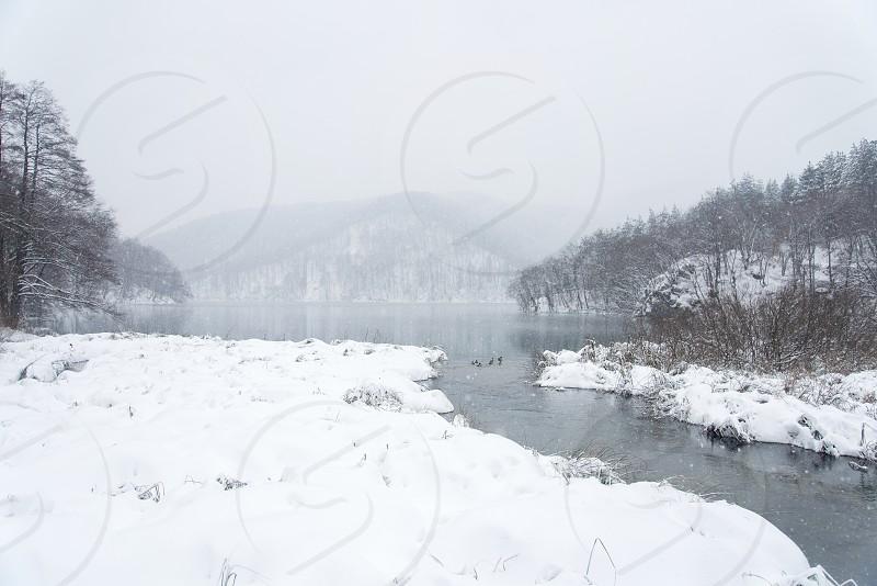 Plitvice Lakes National Park  Ice Snow Cold Winter Croatia Europe Travel photo