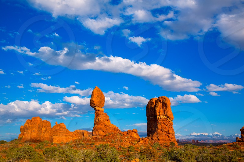 Arches National Park Balanced Rock in Moab Utah USA photo