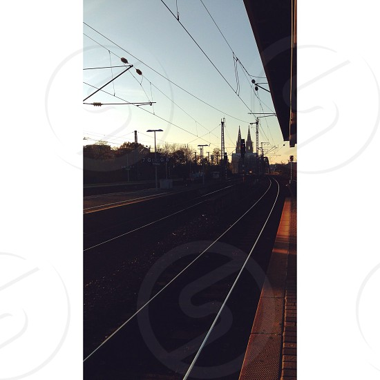 #train#line#tracks#cologne#hbf#sunset#november photo
