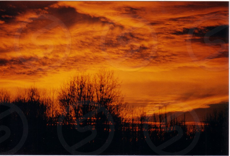 orange sky view photo