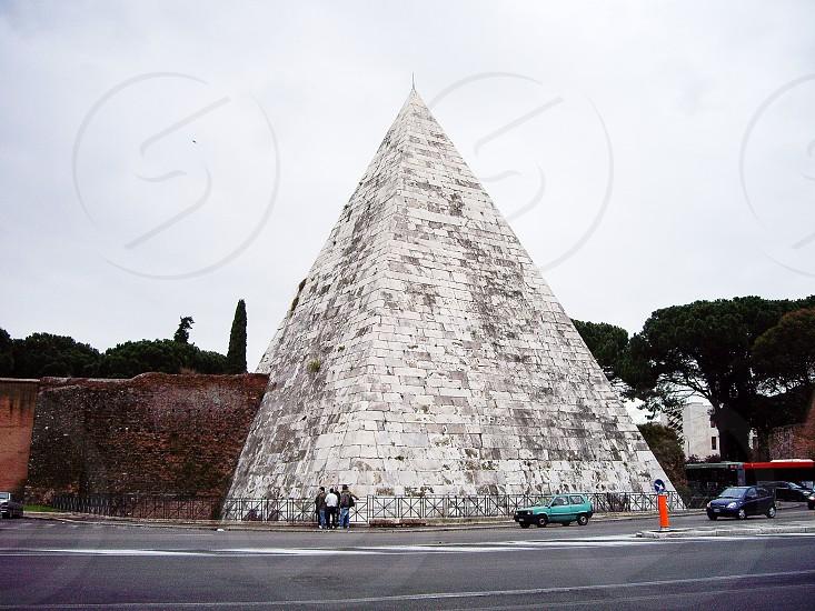 Piramide (Pyramid of Cestius) Rome Italy  photo