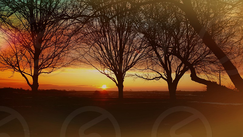 beautiful morning sunrise. Midwest IL photo