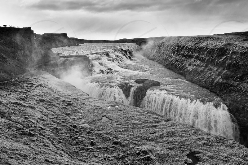 Gullfoss on the Golden Circle tourist route in south west Iceland photo