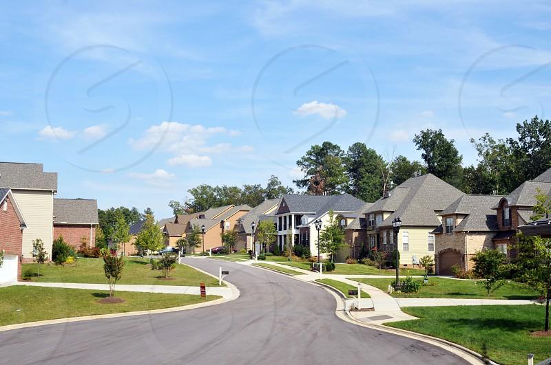 Suburban neighborhood photo