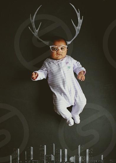 StoryTelling toddler christmas gifts nerd downtown dream genius smart girl flying randier horns photo