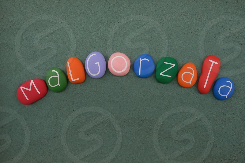 Celebration of the polish given name Małgorzata derived from the Greek word Margarita  meaning pearl photo