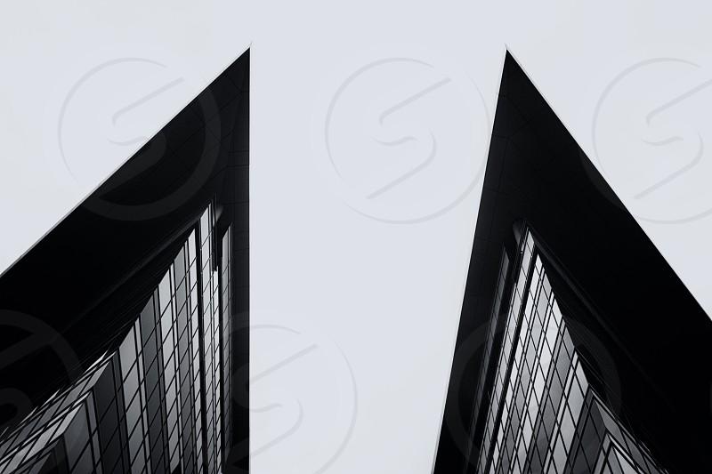 Black and white arhitecture. photo