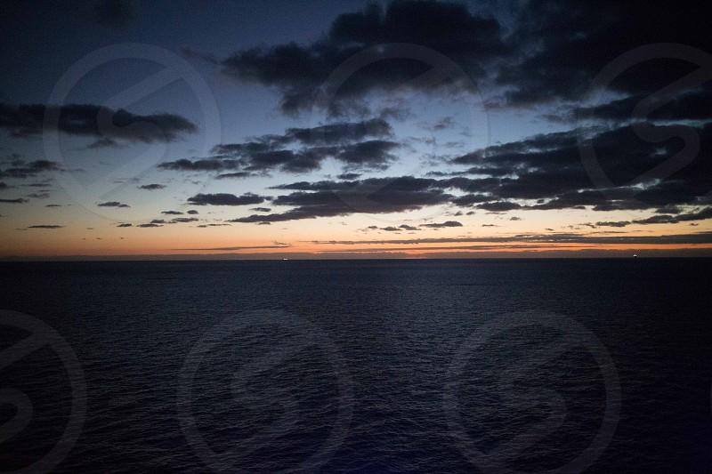 Sunrise over the Caribbean photo