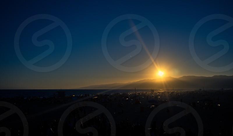 Sunset at Venice Beach CA. photo