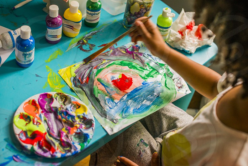 Finger Painting masterpiece photo