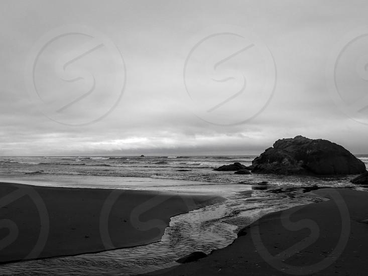 Ocean waves coast beach Washington photo