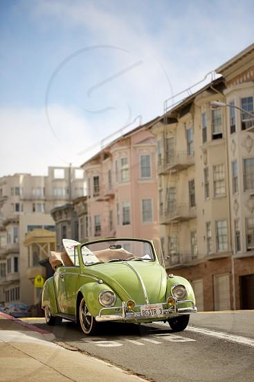 green volkswagen photo