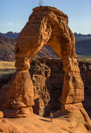 Impressions at and around the delicate arch in the arches nationalpark photo