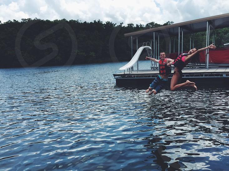 Missouri fun water couple love vacation photo