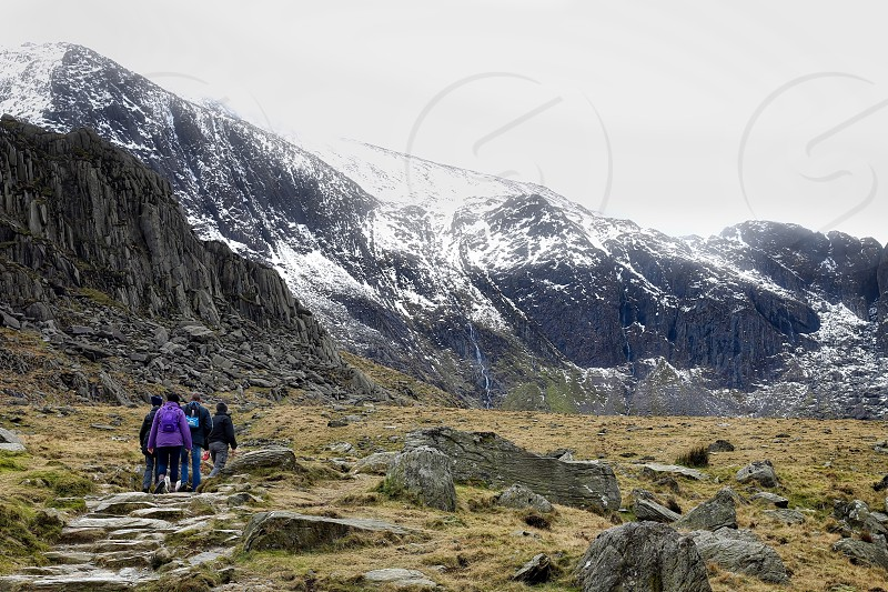 Mountain hiking walking landscape photo