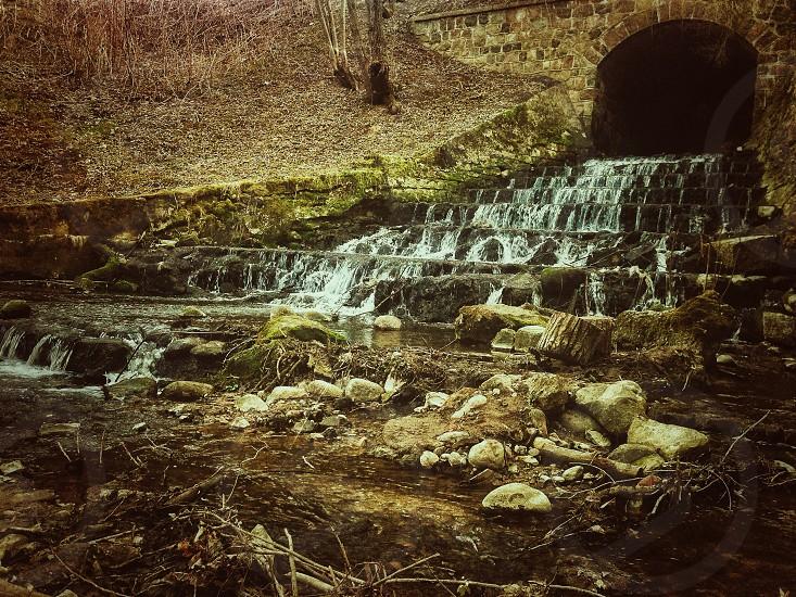 water falls view  photo