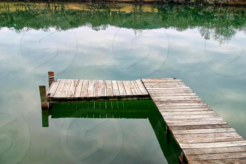 Dock on Still Waters. photo
