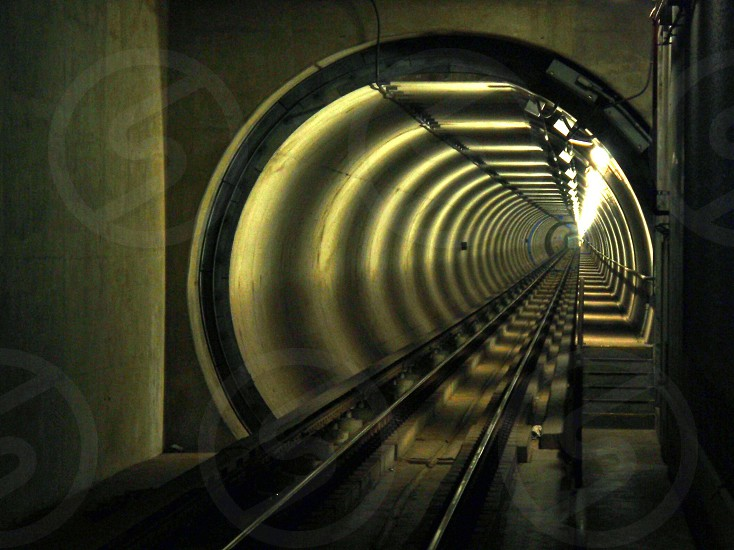 train tunnel photo