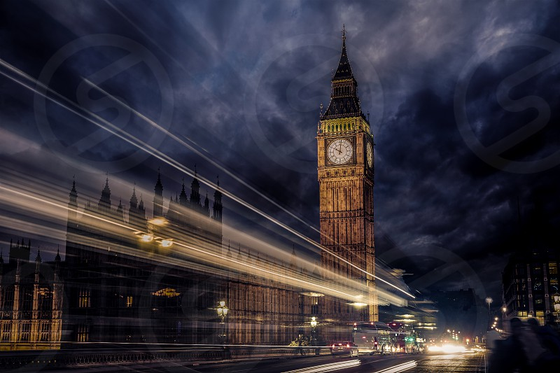 Big Ben Clock Tower in London England photo