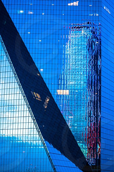 Dallas Texas detail architecture structure Windows reflection gleaming shine offices close up  photo