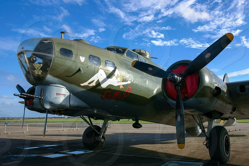 Close-up of Sally B American Bomber at the Imperial War Museum Duxford photo