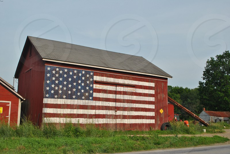 Patriotic barn photo