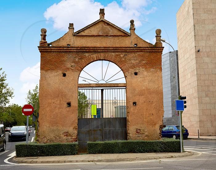 Caceres door at Avenida Hispanidad in Spain by via de la Plata way photo