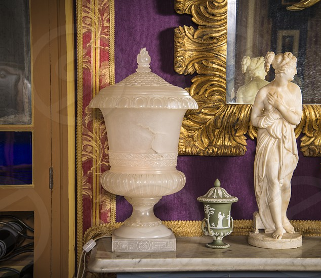 Alabaster Lamp. Product photo in context. photo