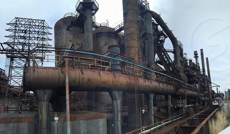 Bethlehem Steel Stacks rust photo