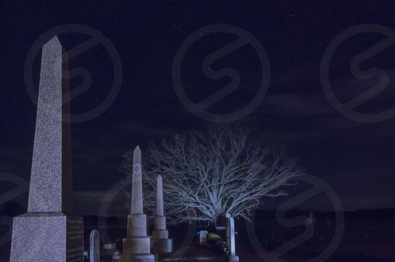 Cemetary at night  photo