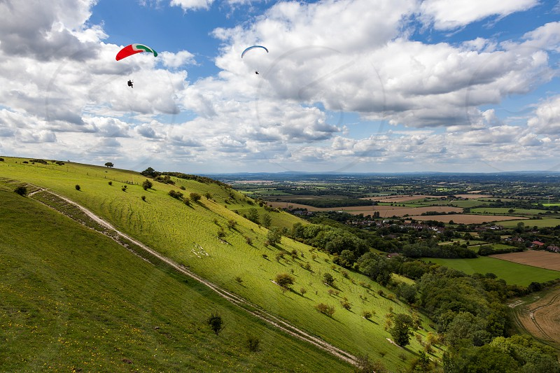 Paragliding at Devil's Dyke photo