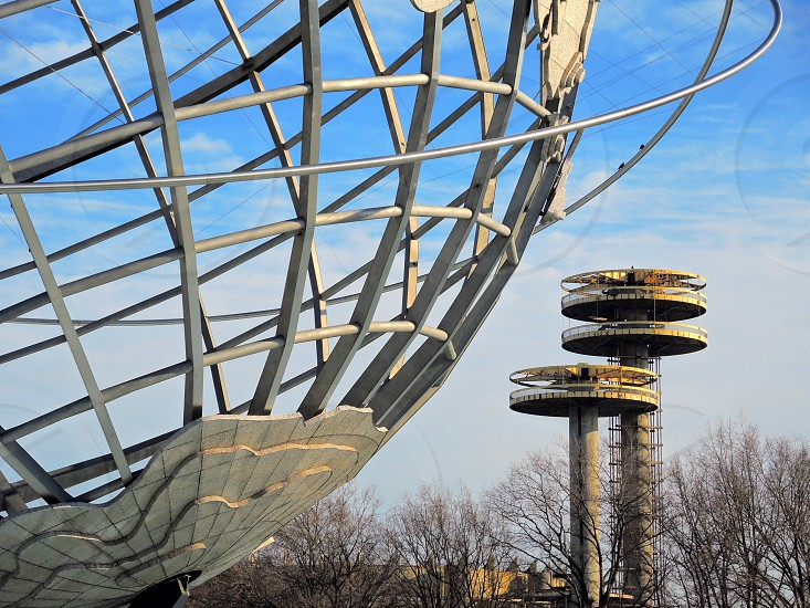 unisphere and world's fair observation towers photo