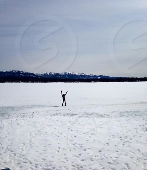 'frozen' McCall Idaho Payette Lake photo