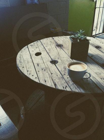 white coffee mug  photo