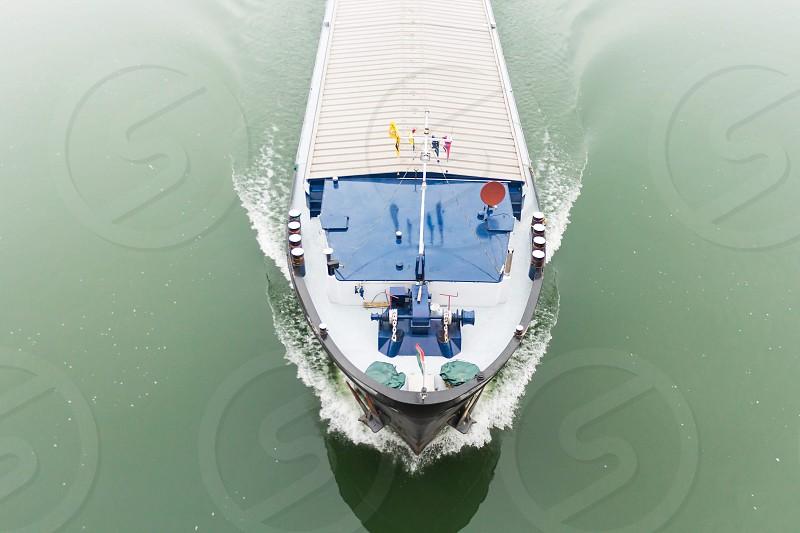 Boat cargo commerce Danube Budapest  photo