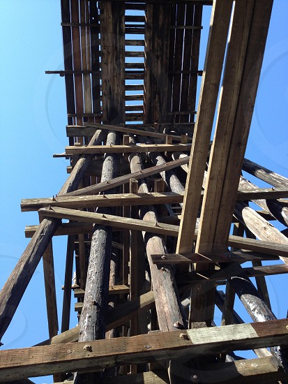 wooden constructed tower photo