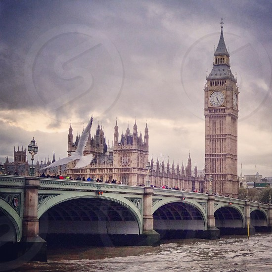 London Big Ben Westminster bridge photo