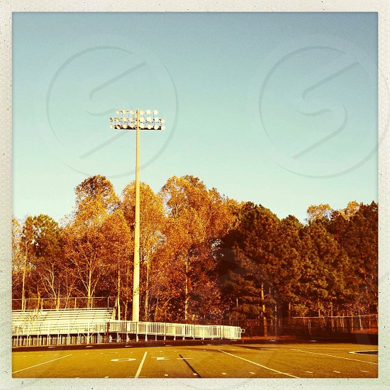 Empty football field  photo