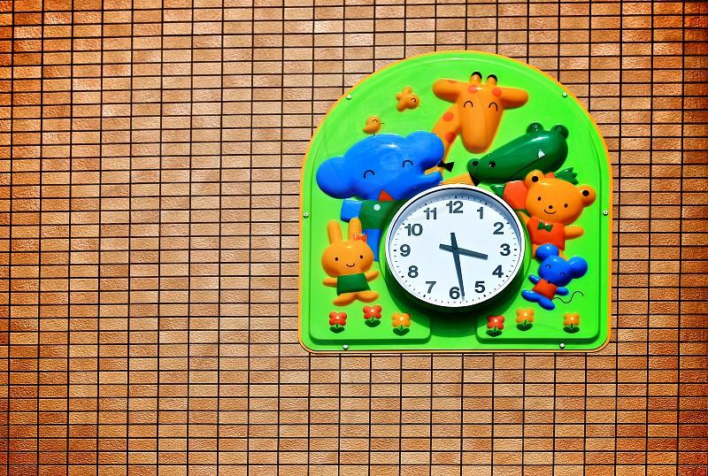 School school supplies back to school school lovely clock clock photo