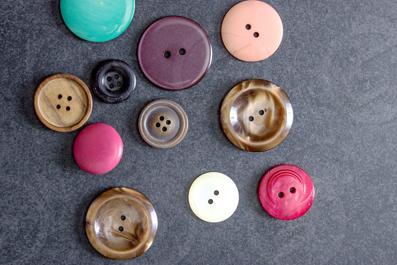 Collection of buttons photo