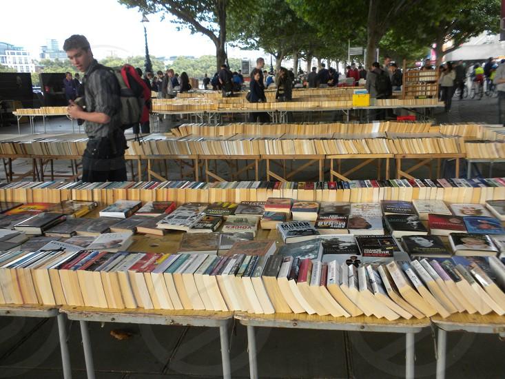 Book bazaar London.  photo