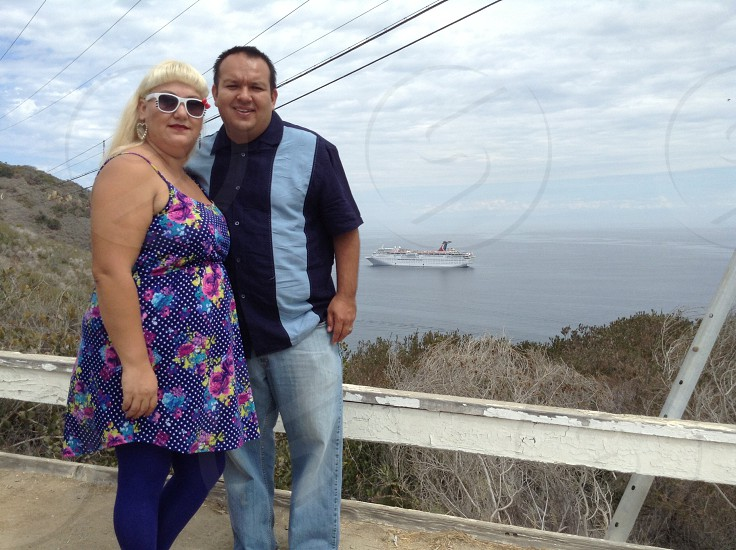 Family cruise Catalina Island summer time vacation.    photo