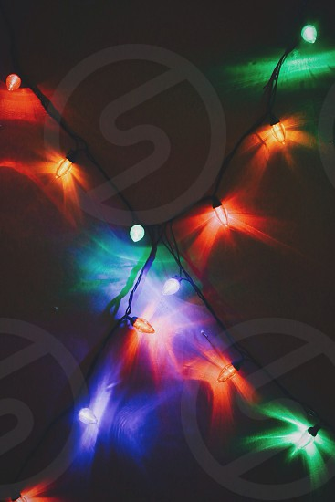 multicolor string lights photo