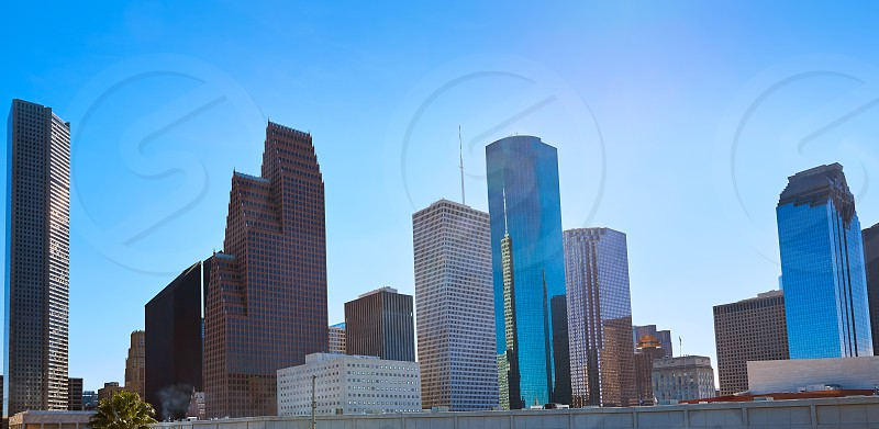 Houston city skyline from west in Texas USA photo