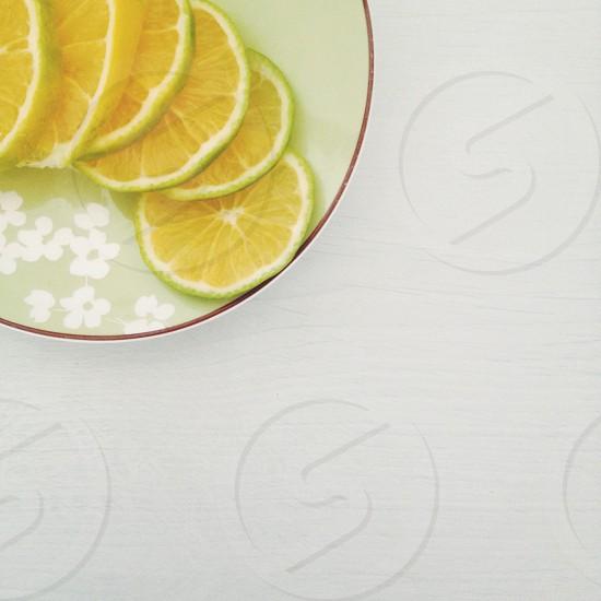 lemon slices photo
