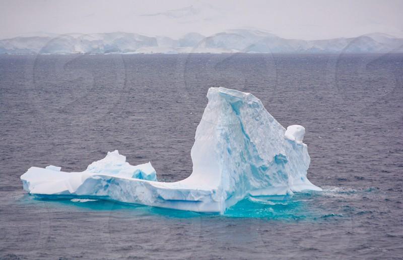 FROZEN  iceberg in Antarctica photo