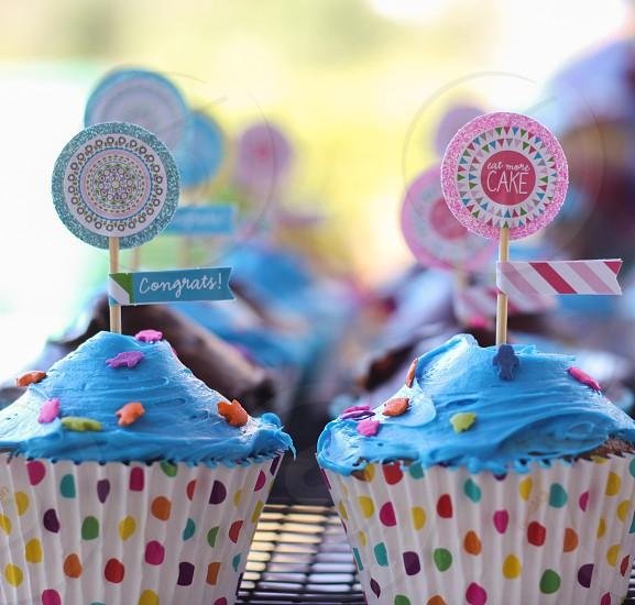 Cupcake chocolate birthday cake celebrating celebrate celebration party photo