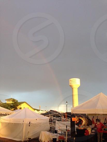 Rainbow over fair 2 photo