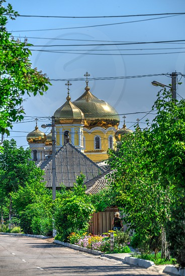 The village of Vilkovo in Odessa region Ukraine. The beginning of the river walk to the Danube Delta photo