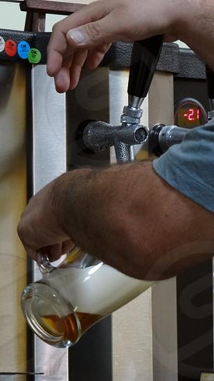 Draft beer. photo